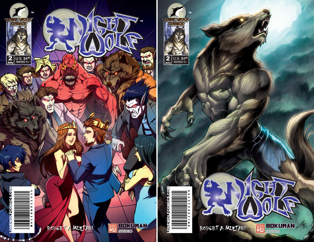 Night Wolf Volume 1 Issue 2 Cover A & Cover B